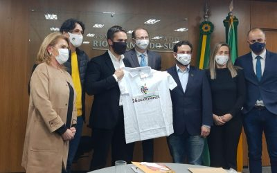 Summer Deaflympics Committee is received by Governor Eduardo Leite
